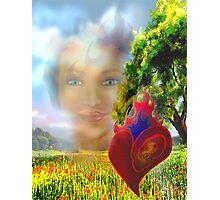 Flaming Heart,  Intense Eyes Photographic Print