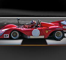 1974 Ferrari 312P V12 'Finish Line' by DaveKoontz