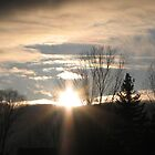 An April  Sunset by gypsykatz