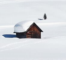 Snowy Hut in Italy by MissCellaneous