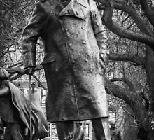 Statue of Winston Churchill, Parliament Square by Nicole Petegorsky