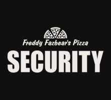 Freddy's Fazbear Pizza Security T-Shirt by DeepFriedArt