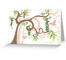 Magic Trees and Baby Girls in a Pod Greeting Card