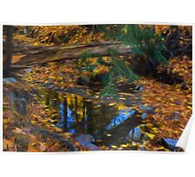 Impressions of a Little Forest Creek in the Fall Poster