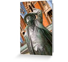 Sir John Betjemen statue  Greeting Card