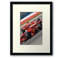 Scuderia Ferrari Marlboro Felipe Massa Brazil F1 Sepang Malaysia Framed Print