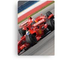 Scuderia Ferrari Marlboro Felipe Massa Brazil F1 Sepang Malaysia Canvas Print