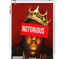 "Biggie ""Notorious King"" Supreme  iPad Case/Skin"