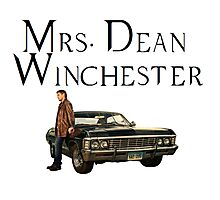 Mrs. Dean Winchester Photographic Print