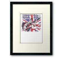 Rock n Roll Union Jack Framed Print
