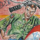 ACEO Elvis Presley trading Card  by Tracey Pearce