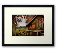 The Ice Shed Framed Print