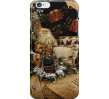 Country Christmas Crafts 3 iPhone Case/Skin