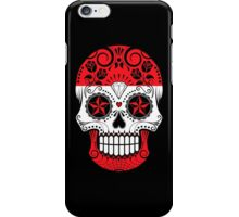 Sugar Skull with Roses and Flag of Austria iPhone Case/Skin