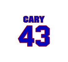 National baseball player Chuck Cary jersey 43 Photographic Print