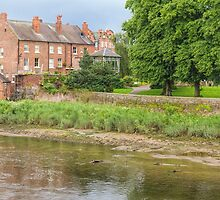 Alongside the River Dee, Chester, England by Elaine Teague