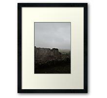 Kenilworth Castle; Walls in mist Framed Print