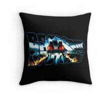 Back to the Future-Time travel Throw Pillow