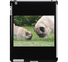 pup meets papa iPad Case/Skin