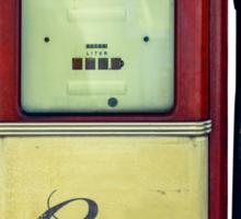Classic Gas Pump Sticker