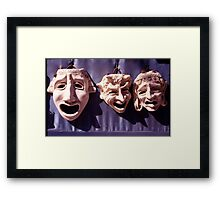 Faces on a Wall Framed Print