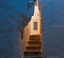 Daybreak in the backstreet alley, Patmos, Dodecanese Islands by Konstantinos Arvanitopoulos