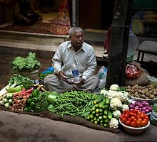 Street Vendor, Delhi by Cole Stockman