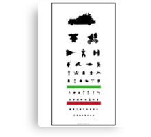 Eye Chart - 80s Movies Canvas Print