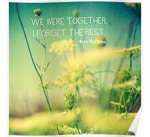 We Were Together Poster