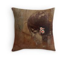 """""""and then she was broken"""" Throw Pillow"""