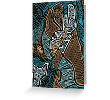 Abstract Two Greeting Card