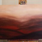 Burnt Red Landscape by Lynn Brown