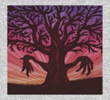 Abstract digital illustration of big leafless fantasy tree Kids Clothes