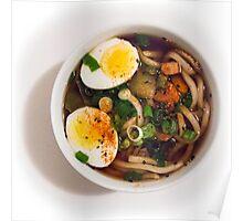 Udon Noodle Soup Bowl Poster