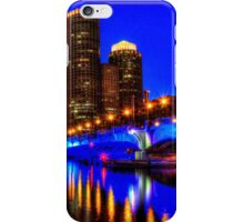 Night of Blue - Fort Point Channel, Boston iPhone Case/Skin