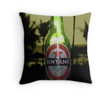 Sunset Beer Throw Pillow