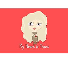 Game of Thrones Valentines: My Heart is Yours Photographic Print