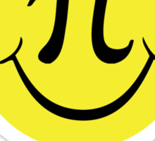 Funny Limited Edition Smiley Face Happy Pi Day 2015 T-Shirt and Gifts Sticker