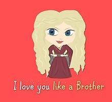 Game of Thrones Valentines: Cersei's Insest by Alice Edwards