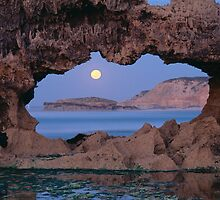 fullmoon thru rockarch by matt mackay