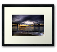 Moods Of A City - The HDR Series - Sydney Harbour, Sydney Australia Framed Print
