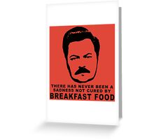 Ron Swanson- Breakfast Food Greeting Card