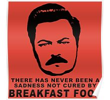 Ron Swanson- Breakfast Food Poster