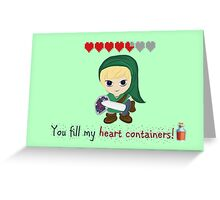 Zelda Valentines: You Fill my Heart Containers Greeting Card