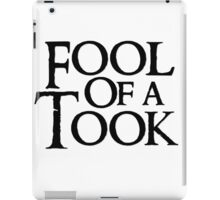 Tookish Fools Black iPad Case/Skin