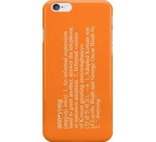 """Annyong"" Definition iPhone Case/Skin"