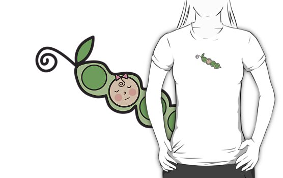 Baby Girl Pea in a Pod T-shirt by fatfatin