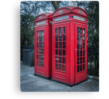 Classic London Telephone Booths Canvas Print