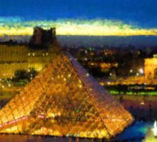 Impressions of Paris - Louvre Pyramid Blue Hour Sticker