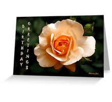 Birthday Greetings Rose Greeting Card
